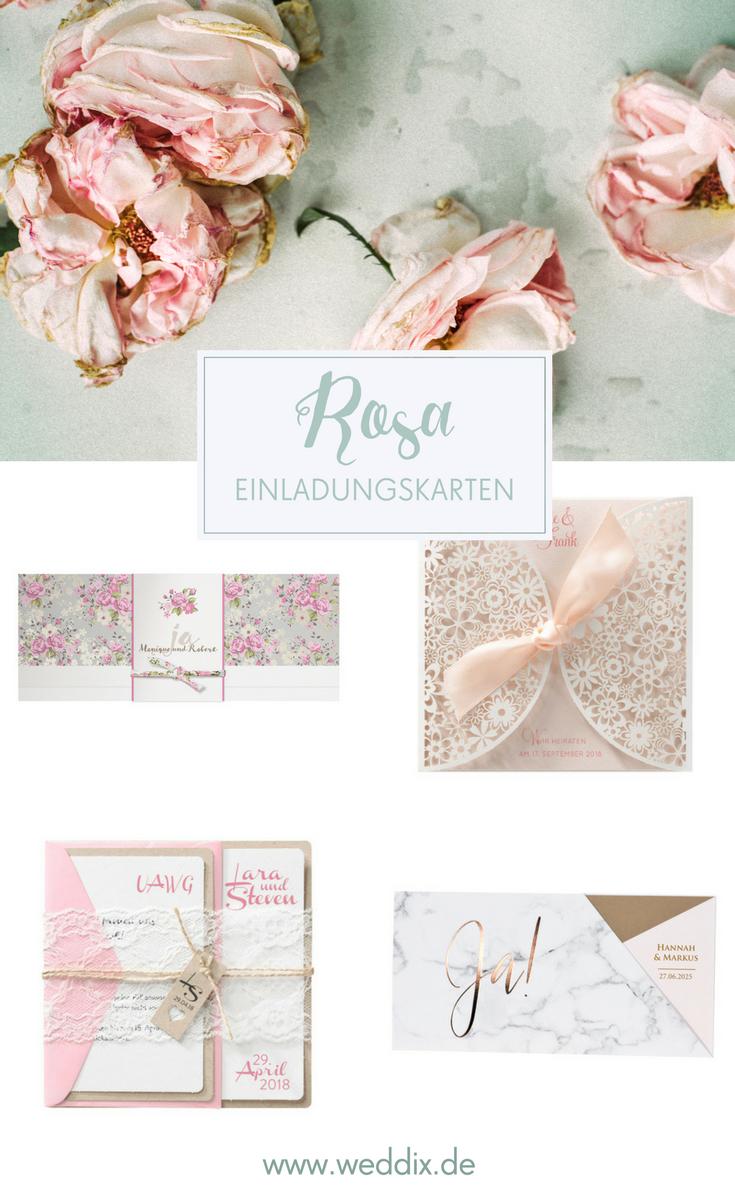 Hochzeitseinladungen In Rosa Suss Romantisch Hochzeit Rosa