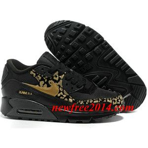 nike air max 90 black and gold leopard