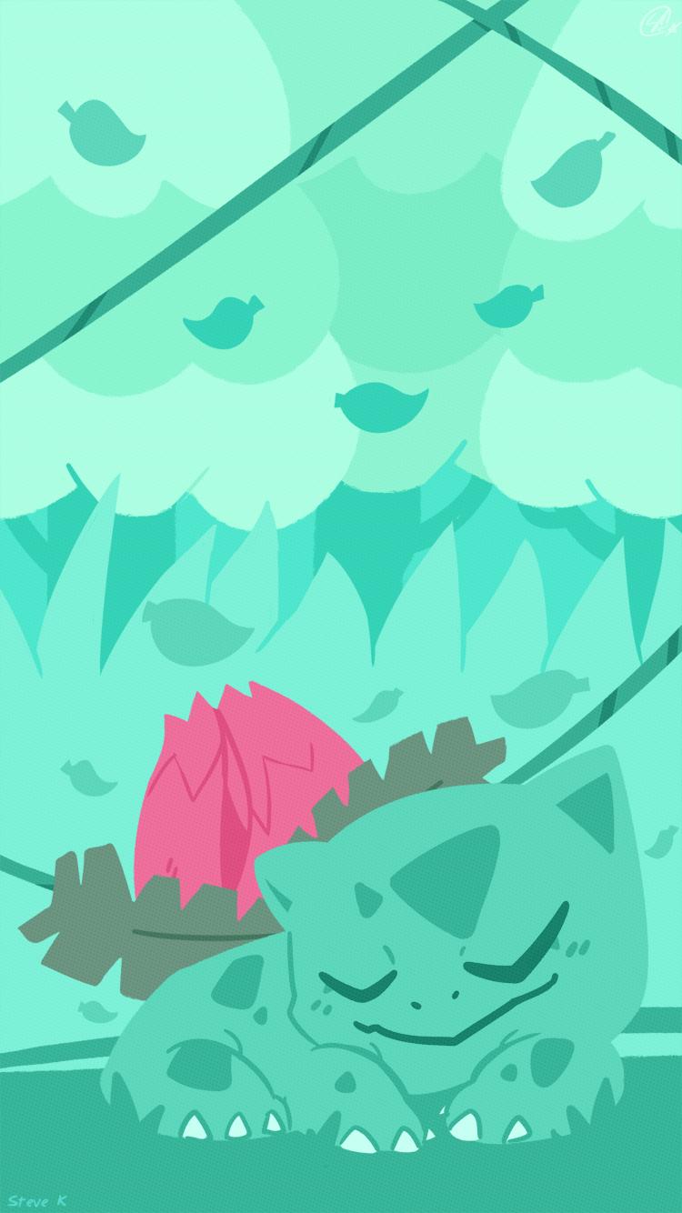 Ivysaur Phone Background Phone Backgrounds Background Pokemon