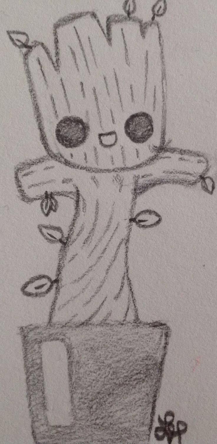 Photo of Baby Groot, #gardians_of_the_galaxy by Wolf Lyly (not the original art) #ga …