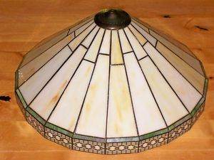 Vintage Spectrum Stained Glass Lamp Shade Mint Stained Glass Lamp Shades Glass Lamp Shade Lamp