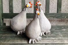 hühner aus beton selber machen