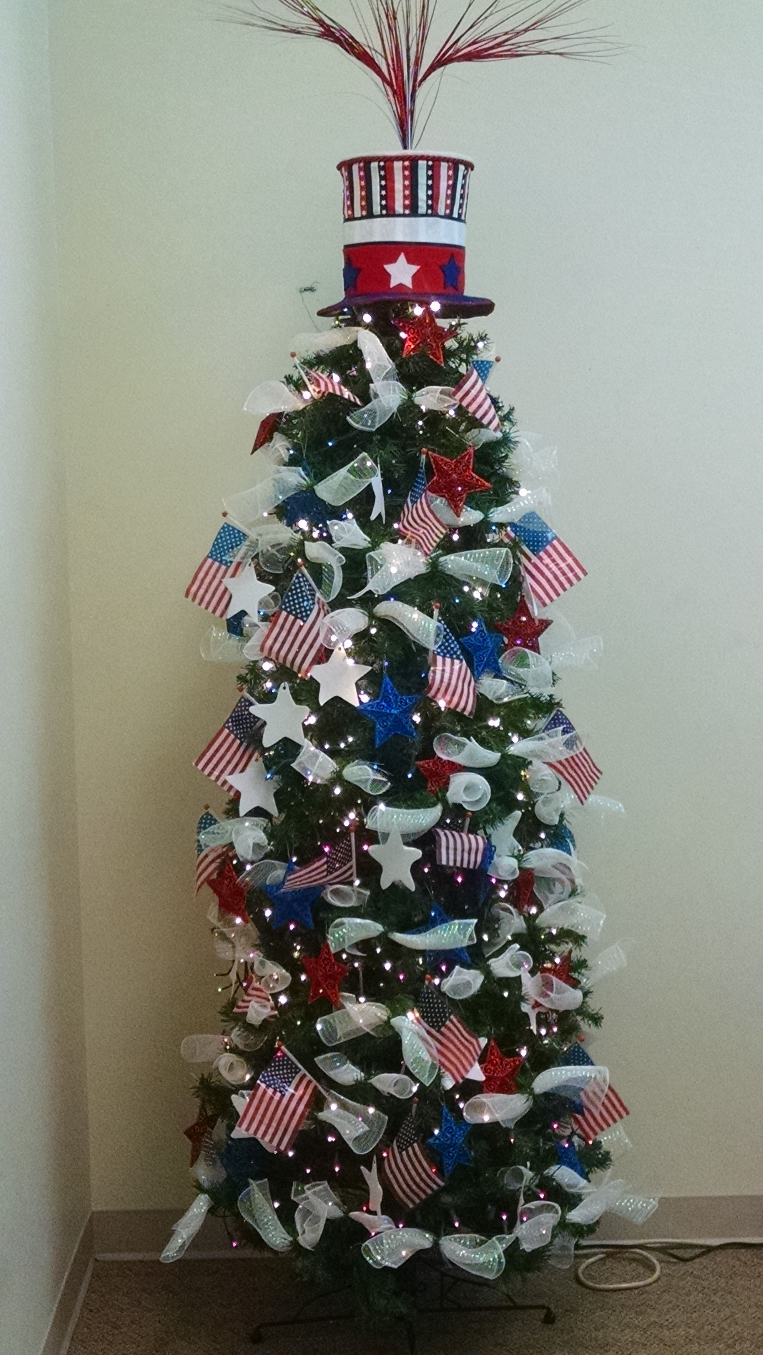 2017 America The Beautiful Tree 4th Of July Patriotic Christmas Tree Holiday Tree Decorations Unique Christmas Trees