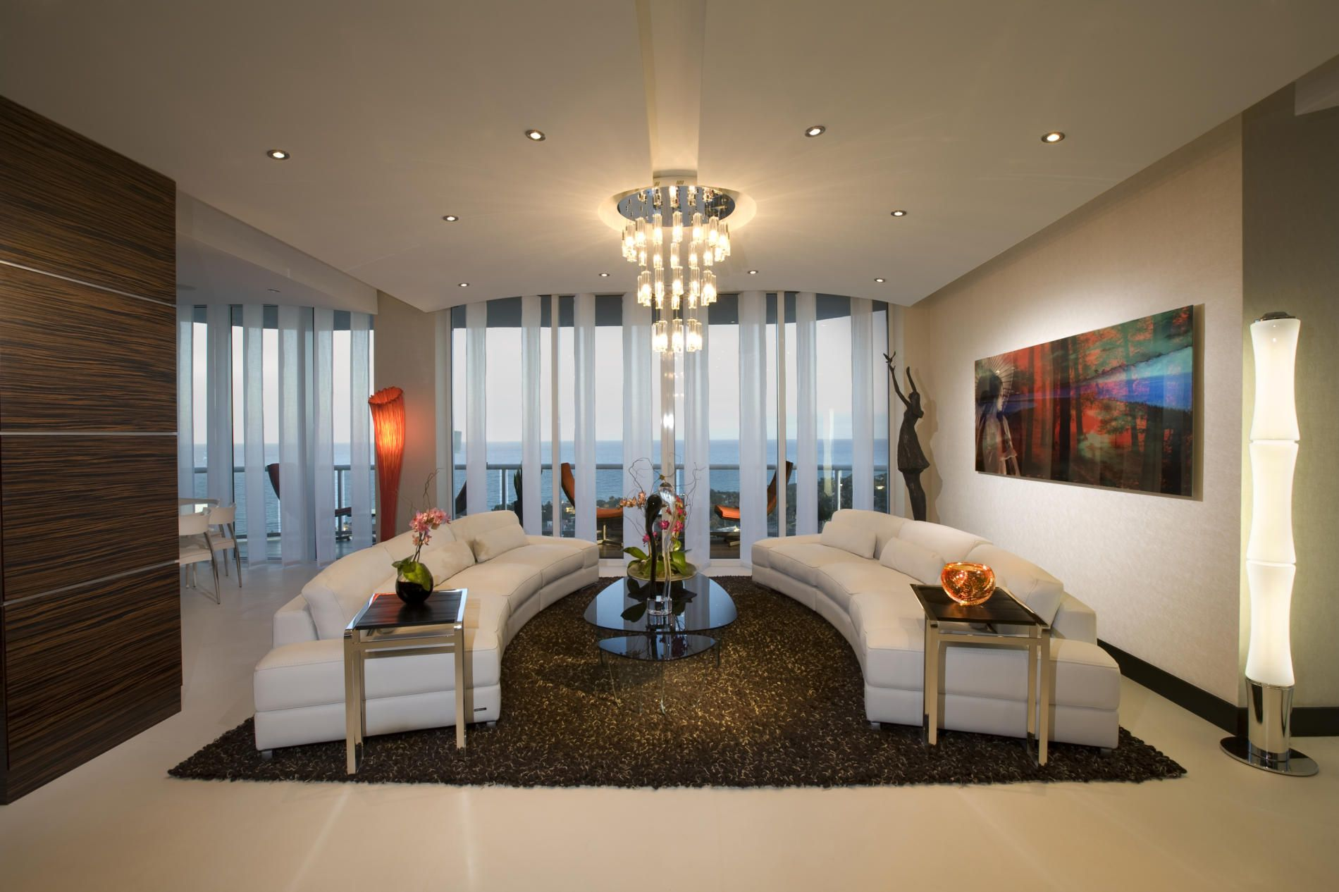 Britto Charette  Miami Pent House  Penthouse Living  Pinterest Mesmerizing Luxury Modern Living Room Design Design Inspiration