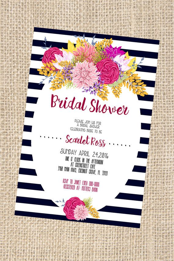 Kate Spade Themed Bridal Shower Invitation By Printaholics On Etsy
