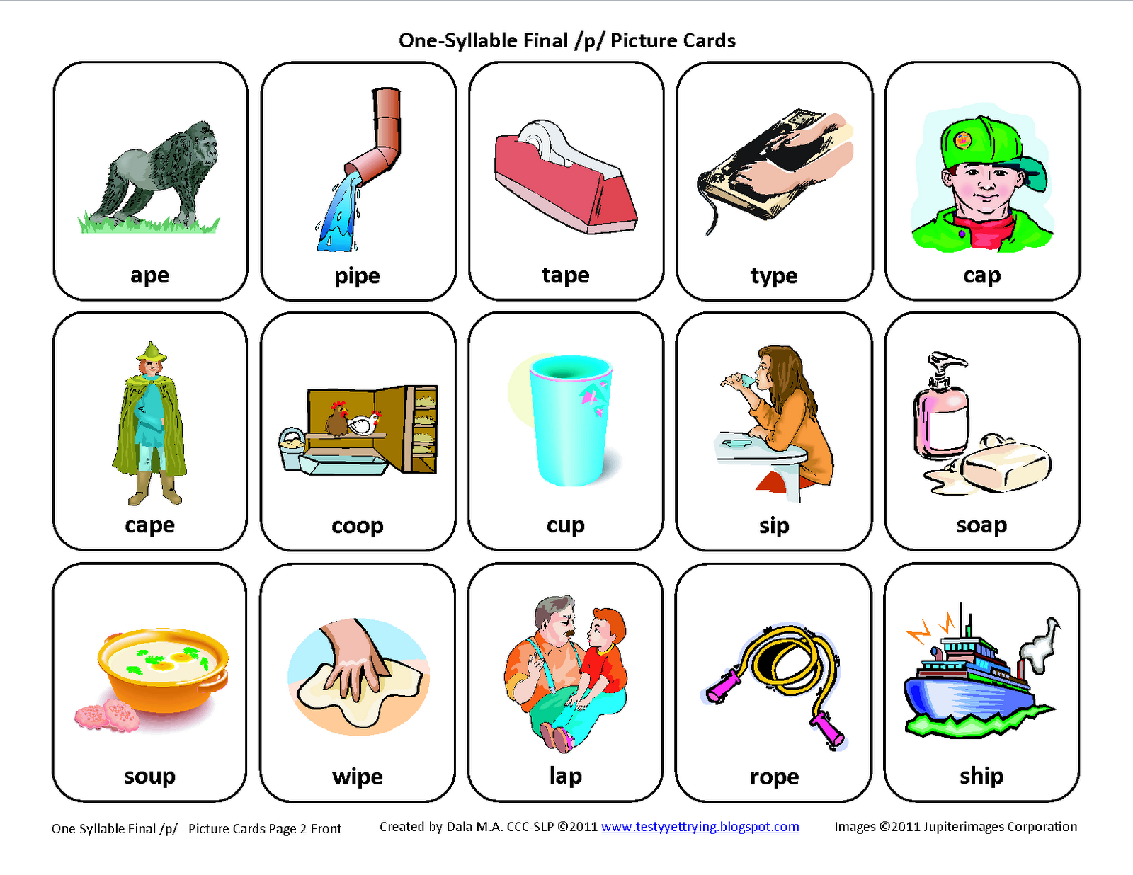 Final P Articulation Card Download This Articulation Card Here Testyyettrying Bl