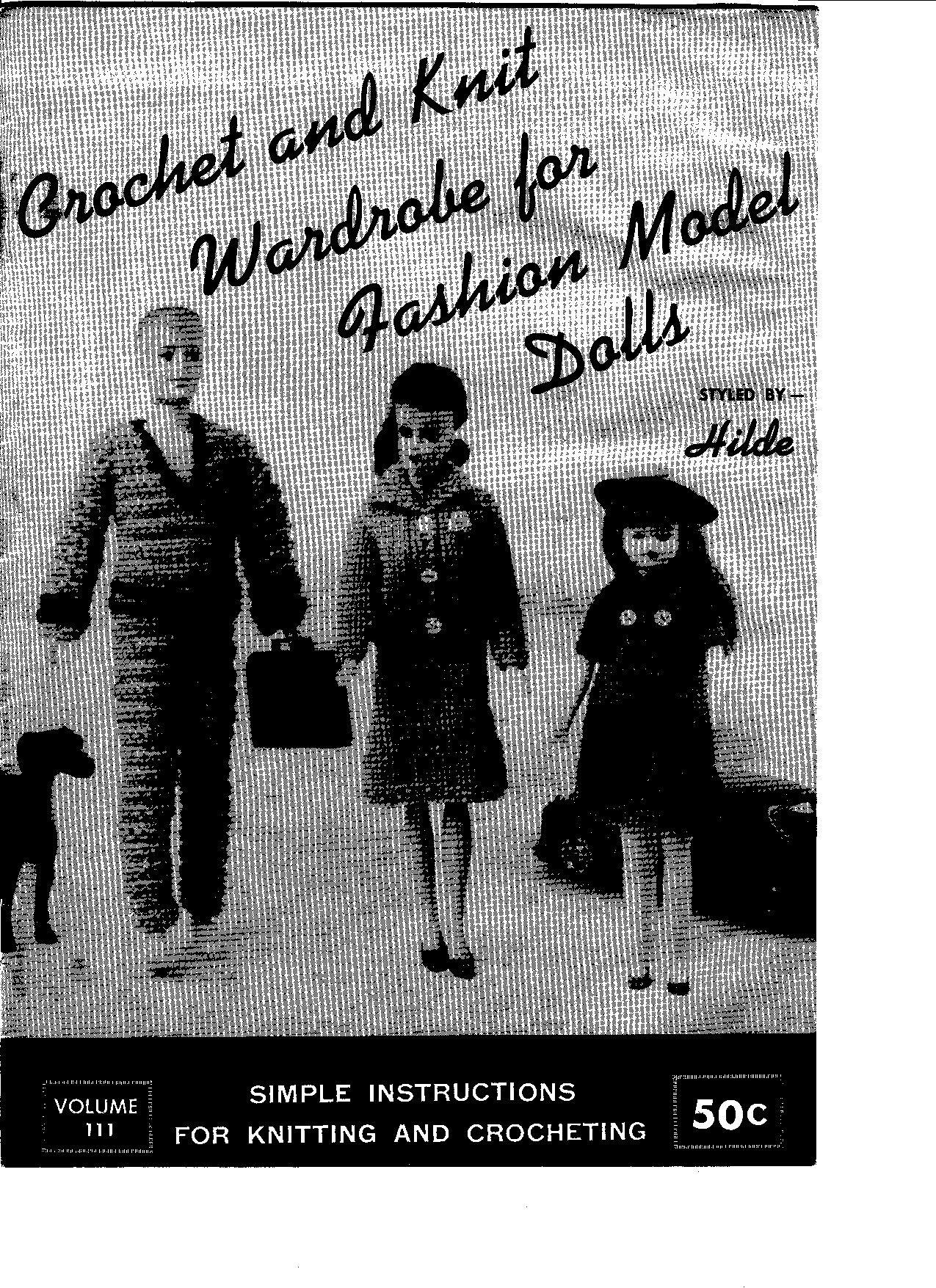 Vintage Barbie Doll Knitting Pattern   FD Croknit Patterns ...