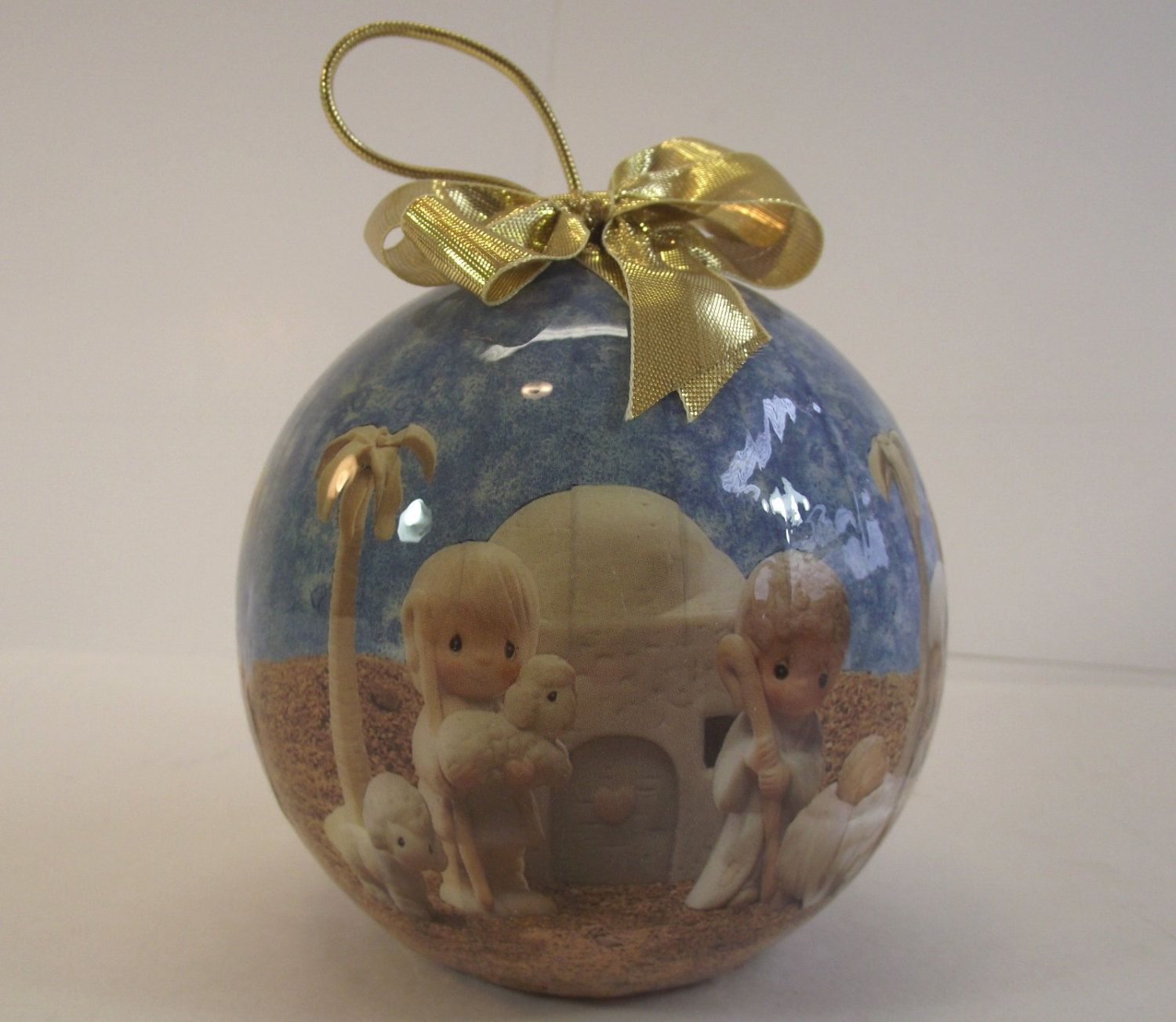 1989 Precious Moments Christmas Ornament 4 Inch Nativity Ball Enesco