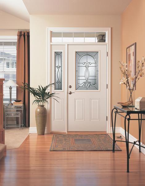 Jeld Wen Half Light Smooth Pro Glass Panel Fiberglass Door