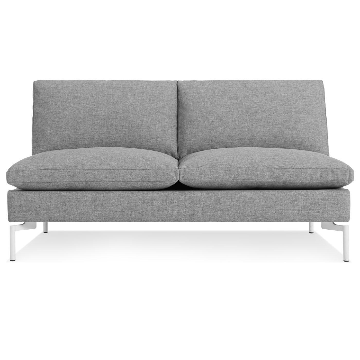 The New Standard Armless Sofa, Nixon Blue / White Love