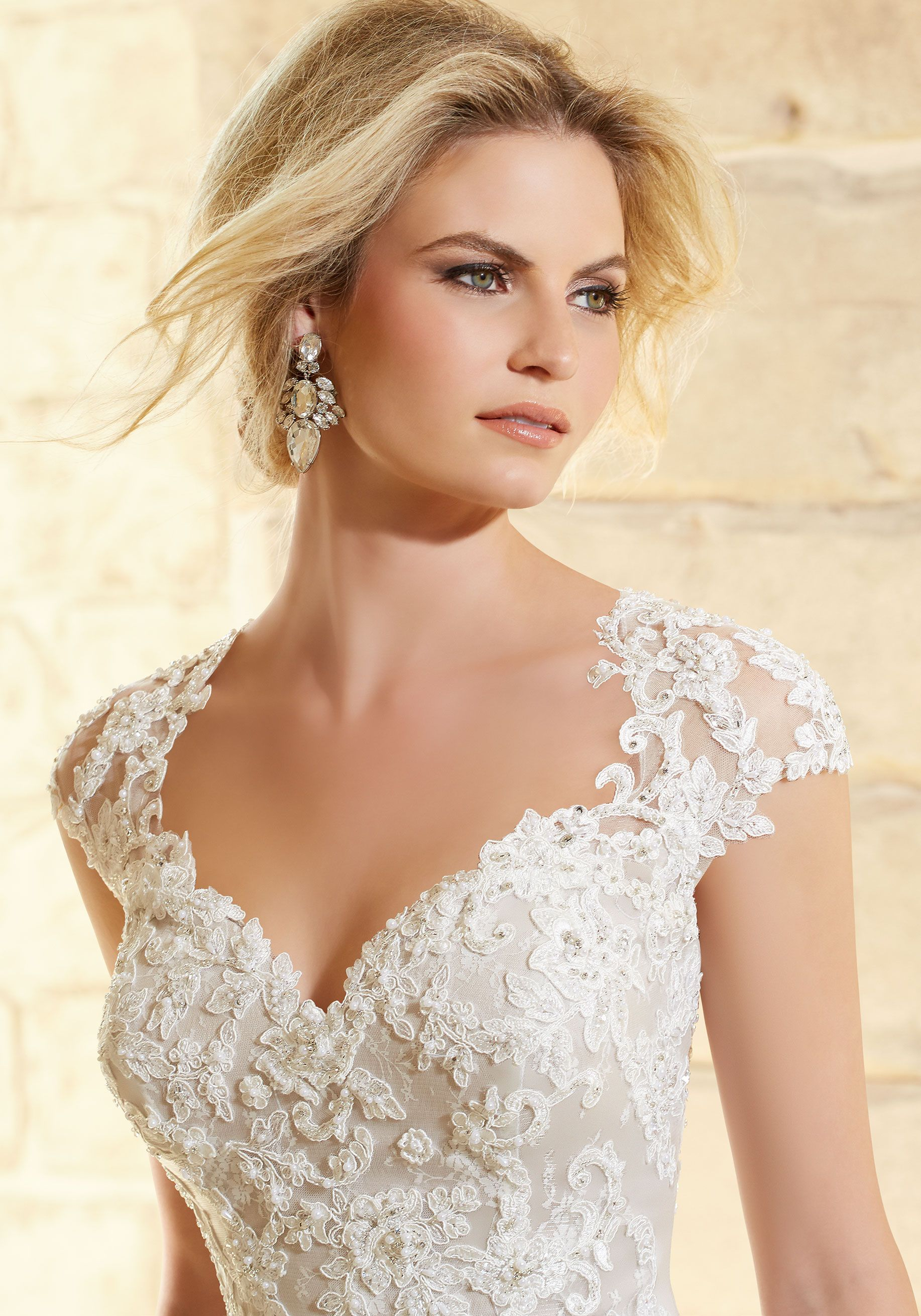 Back detail wedding dress  Romantic Bridal Dress with a sweetheart neckline dropped waist and
