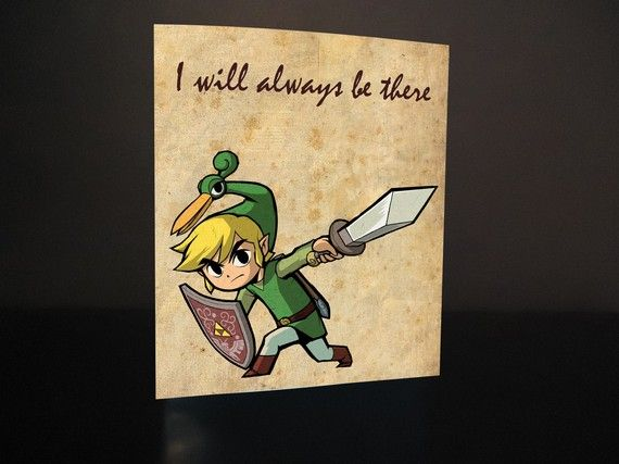 Zelda Valentine S Day Card Template Digital Card By Nyappy On Etsy