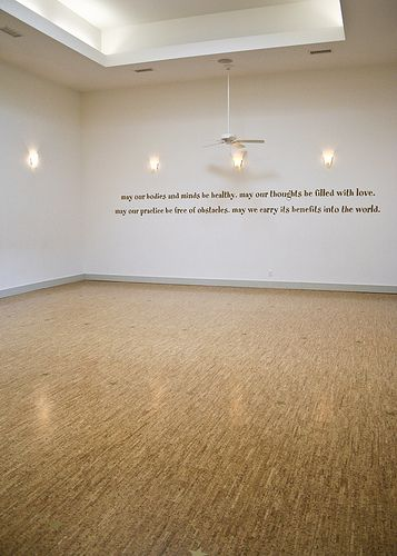 Yoga Wall Light : Tranquil Space Dupont Circle 10 Cork flooring, Corks and Flooring