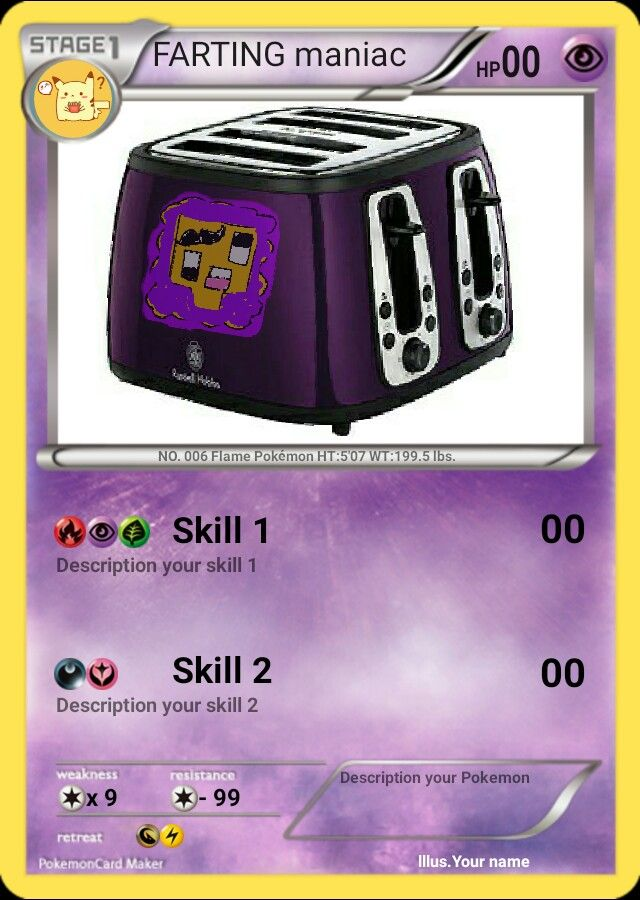 Purple Shep Will Be Awesome As A Toaster Pokemon