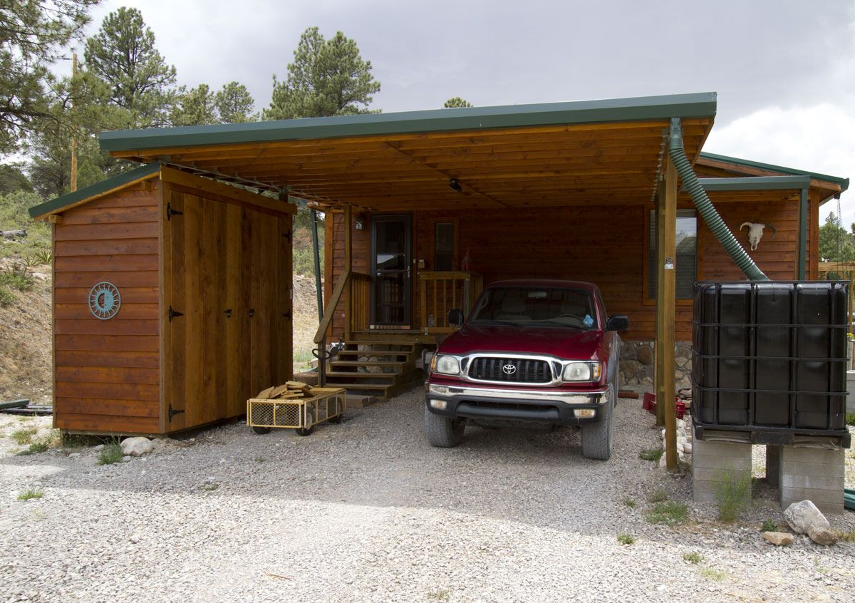 carport shed Shed with Attached Carport http//www