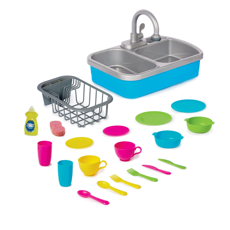 Spark Create Imagine Toy Kitchen Sink With Accessory Play Set 20 Pieces Walmart Com Toy Kitchen Playset Childrens Play Kitchen
