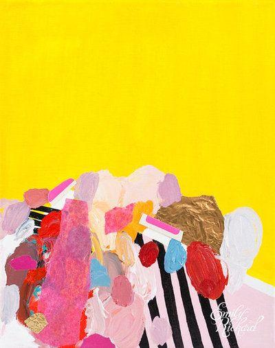 "Monumental, 2012, Acrylic and Mixed Media on Canvas, 8"" x 10"" by Emily Rickard"