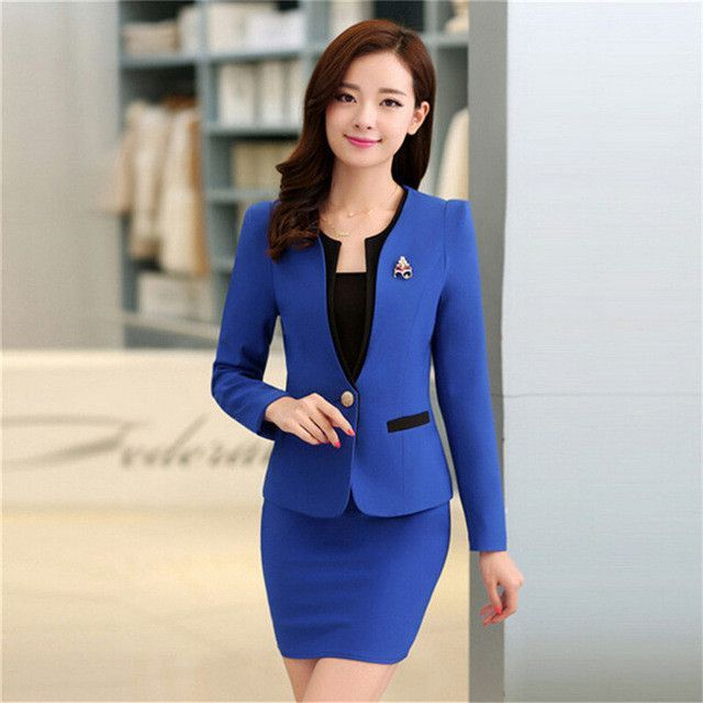 58ab07f8e0a4 Plus Size Candy Color Skirt Suits Summer Style 2016 Women Business Suits  Formal Office Suits Work Elegant Blazer Feminino 3XL
