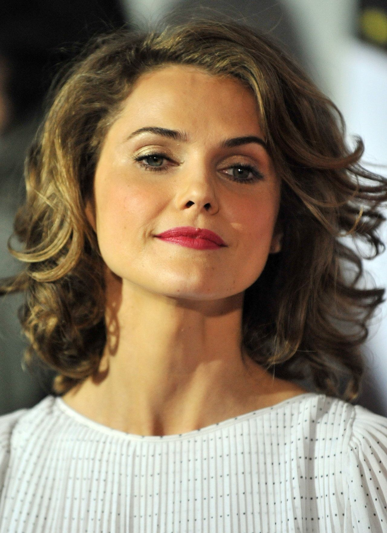 Fint Halvlang Frisyre5 Hairstyle Keri Russell Short Curly Bob