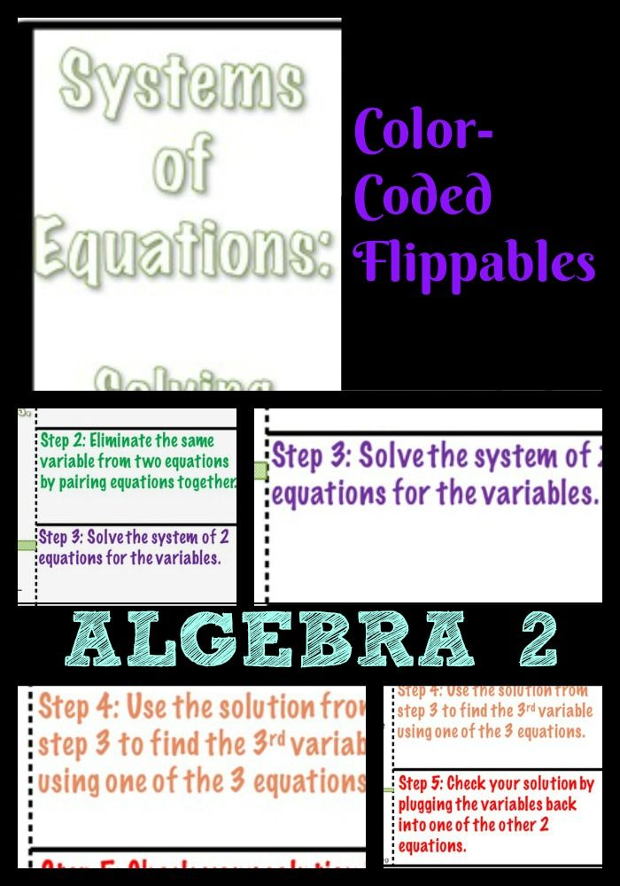 Systems Of Equations And Linear Inequalities Notes Algebra 2