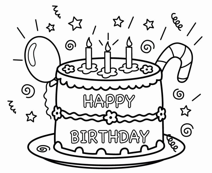Happy Birthday Coloring Page Awesome 25 Free Printable Happy Birthday Color Happy Birthday Coloring Pages Birthday Coloring Pages Free Printable Birthday Cards