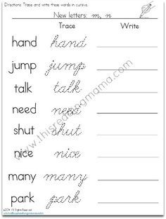 Cursive Writing Practice Activities, Worksheets, Printables, and ...