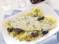Rombo al limone con olive