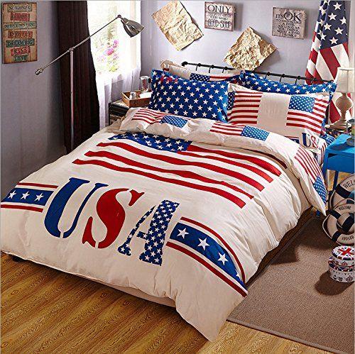 American Flag Bedding Patriotic Bedroom Decor Bedding Sets Patriotic Bedroom Red Bedding Sets
