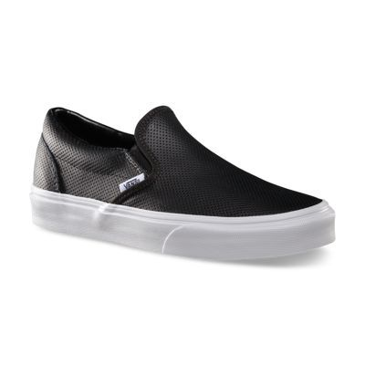 Vans Perforated Leather Slip Ons, $60 | Zapatos de moda