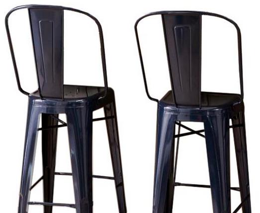 Designform Furnishings 'Stella' High Back Counter Stools, Pair ...