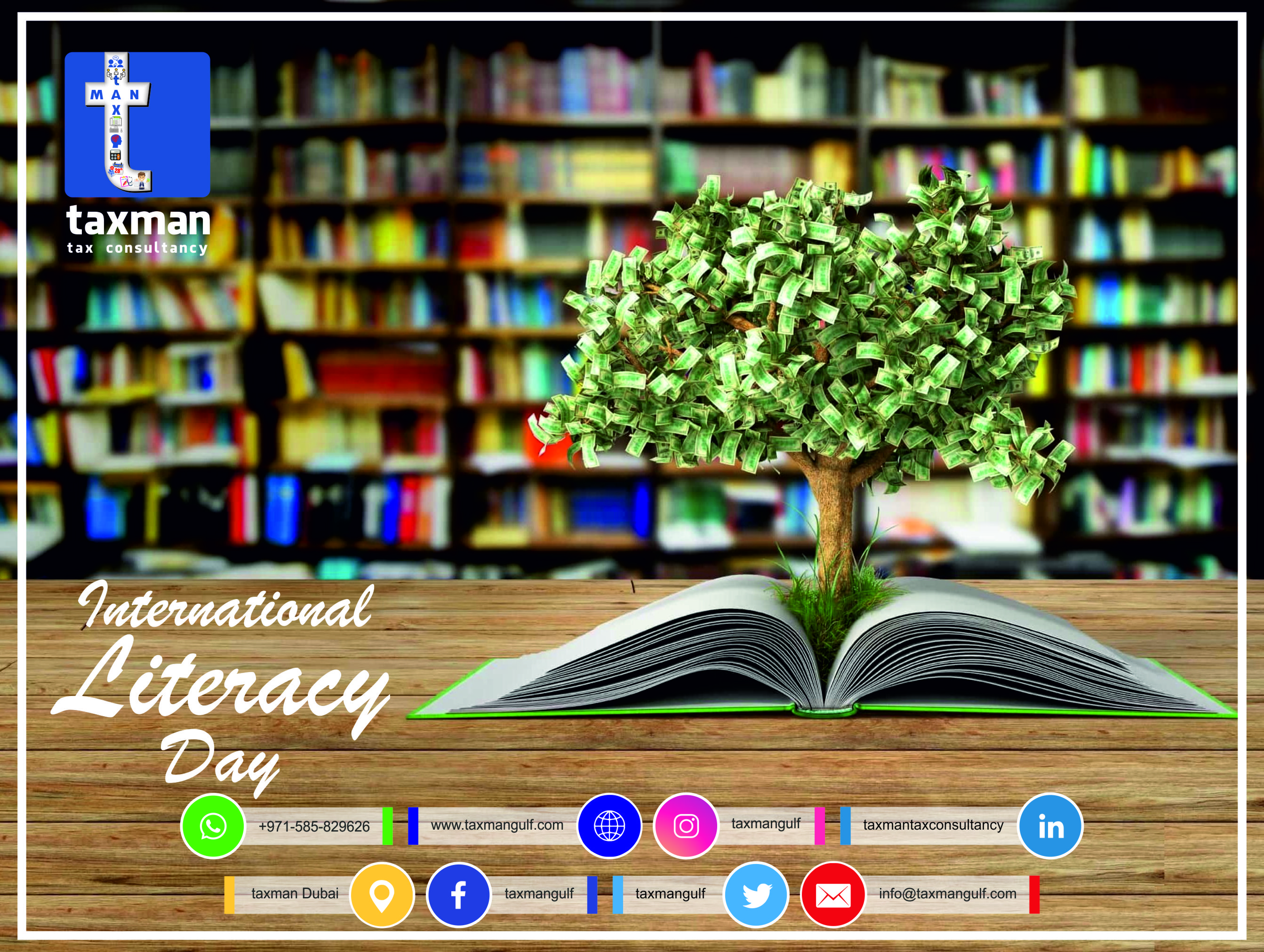 𝗧𝗮𝘅𝗺𝗮𝗻 𝗧𝗲𝗮𝗺 takes a sincere bow to all those who helped to gain this 𝗶𝗻𝘃𝗮𝗹𝘂𝗮𝗯𝗹𝗲 𝘁𝗿𝗲𝗮𝘀𝘂𝗿𝗲. #internationalliteracyday2k20 #postoftheday #internationalliteracydayactivities #internationalliteracydayinfographics #internationalliteracyfoundation #internationalliteracytrust #taxmangulf #teamwork #togetherwecan #letsgrowtogether