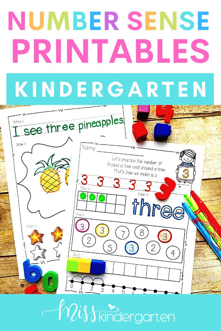 Number Sense Printables 0 20 Miss Kindergarten Kindergarten Math Activities Teaching Numbers [ 1102 x 735 Pixel ]