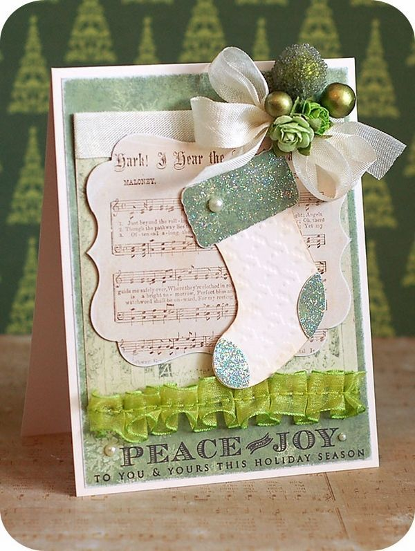 Paper Craft Christmas Card Ideas Part - 23: DIY Greeting Card Ideas Christmas Cards Ideas Music Sheets Paper Crafts  Ideas