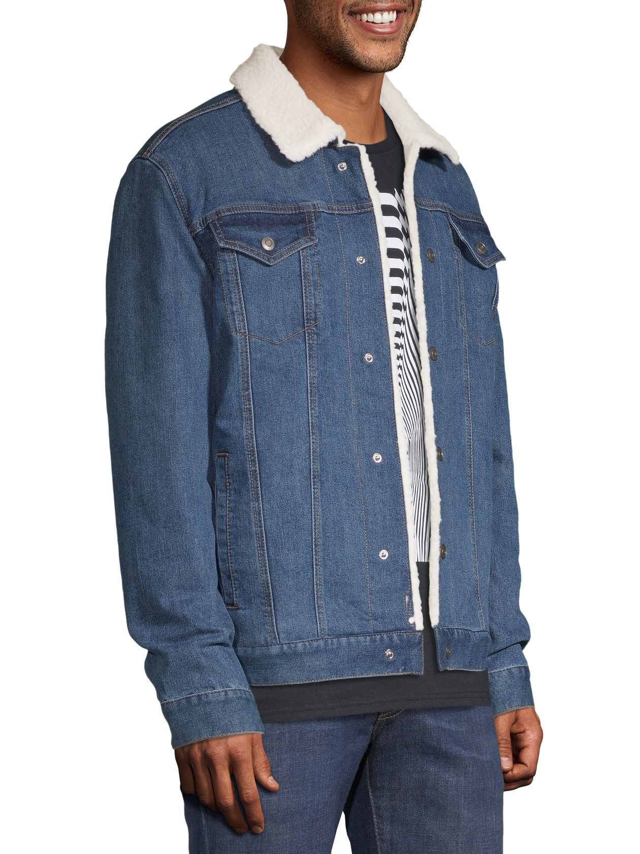 George George Men S And Big Men S Sherpa Lined Denim Jacket Up To Size 5xl Walmart Com Sherpa Lined Denim Jacket Denim Jacket Jackets [ 1680 x 1260 Pixel ]