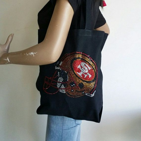 49ERS CANVAS BAG by NOLIMITSHAIRBOUTIQUE on Etsy, $15.99