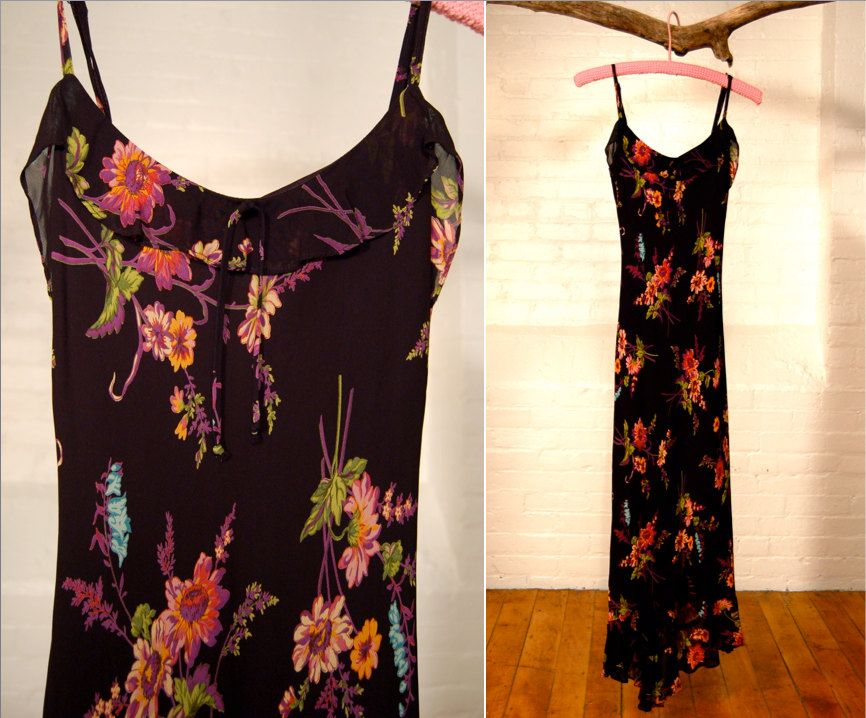 Looking For The Perfect Spring Slip Dress Vintage Betsey Johnson Midi Length