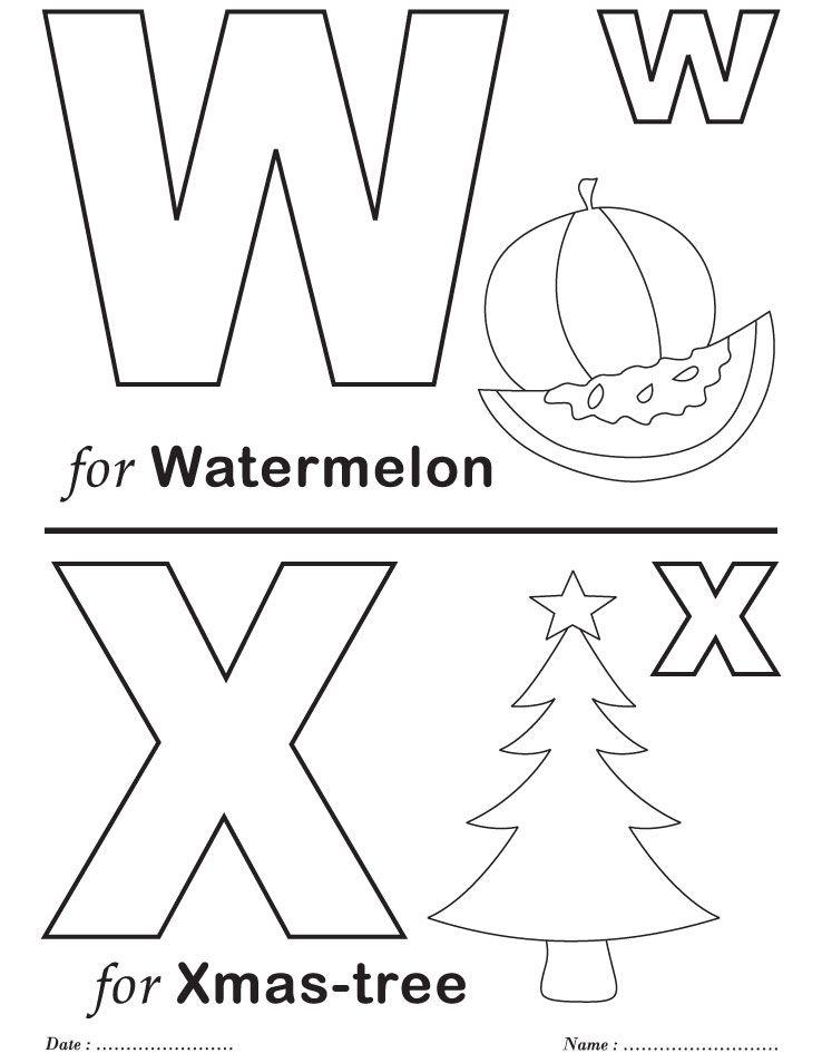 Printables Alphabet W X Coloring Sheets Alphabet Coloring Pages Printable Coloring Pages Alphabet Worksheets Preschool