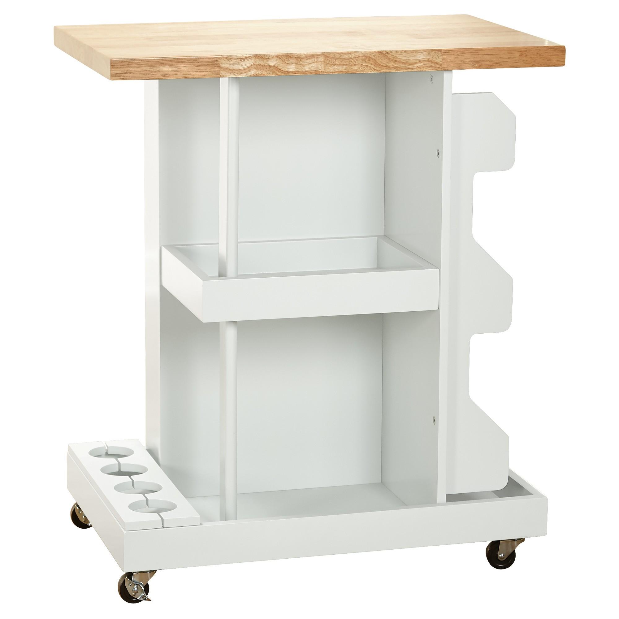 Hampton kitchen cart white target marketing systems