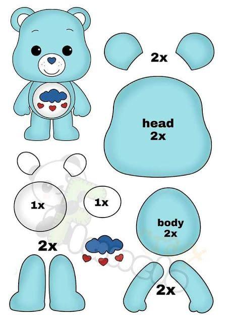 Molde ursinhos carinhosos baby para artesanato                                     Verefazer site de ideias criativas para baixar molde grátis para fazer em casa