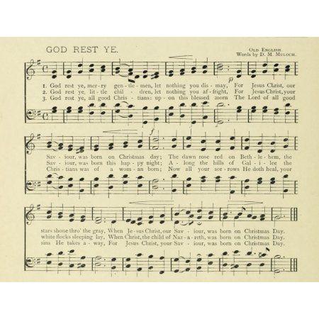 God rest ye Merry Gentlemen Traditional Christmas in Song 1891