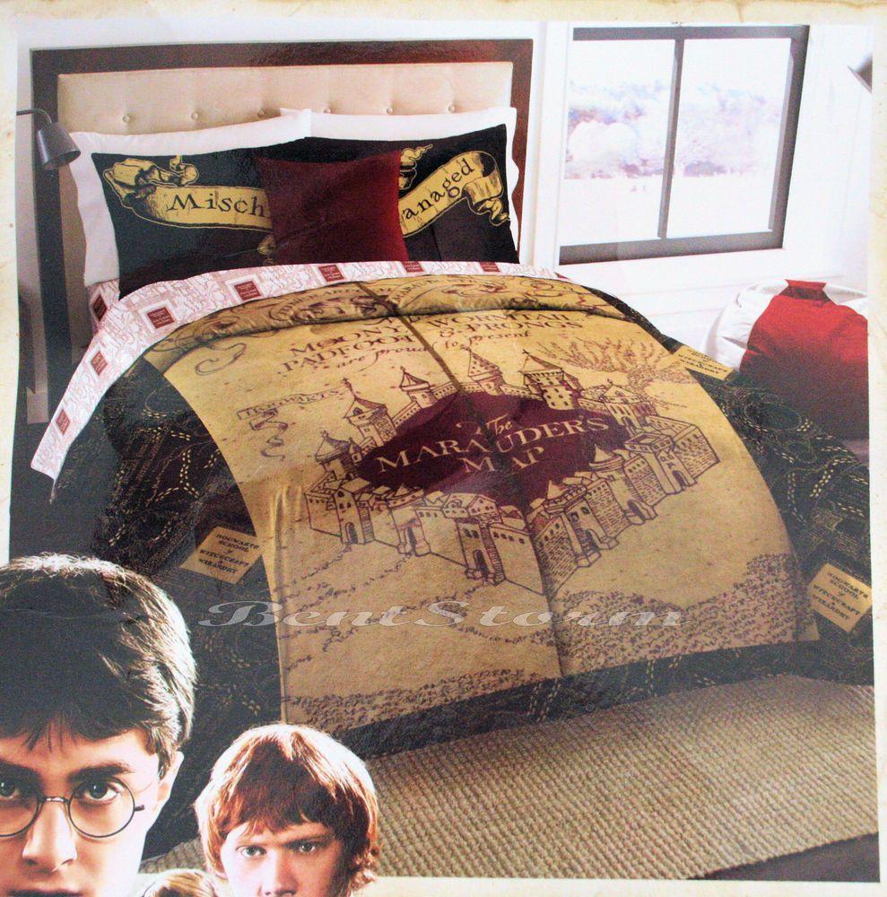 New Harry Potter Deathly Hallows Marauders Map Full Queen Comforter