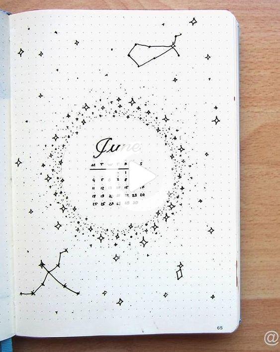 Bullet Journal à thème : la tête dans les étoiles - Lisly s world