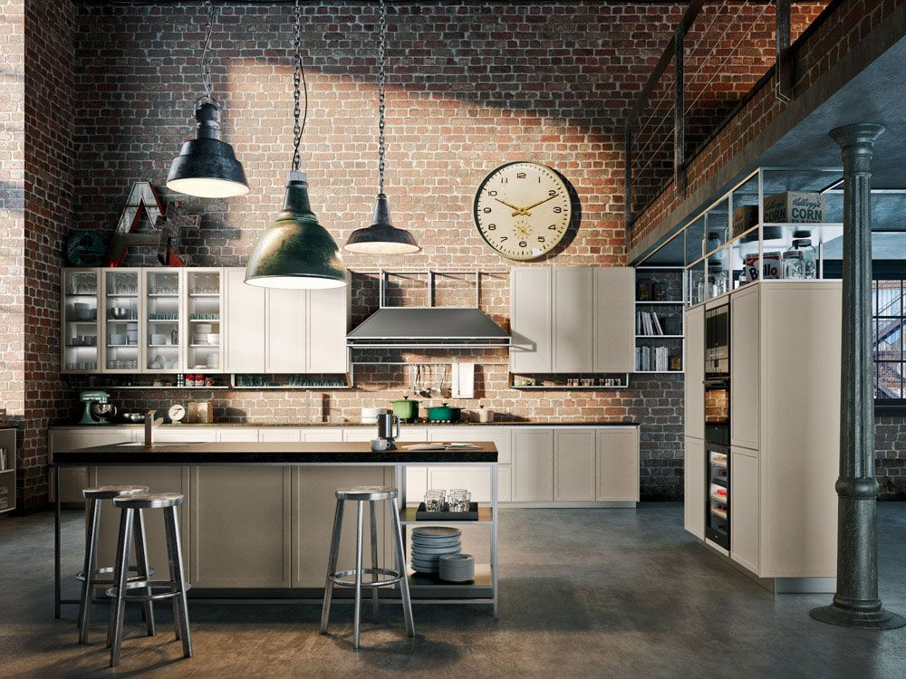 Cucina stile industriale Frame Snaidero | industrial vintage style ...