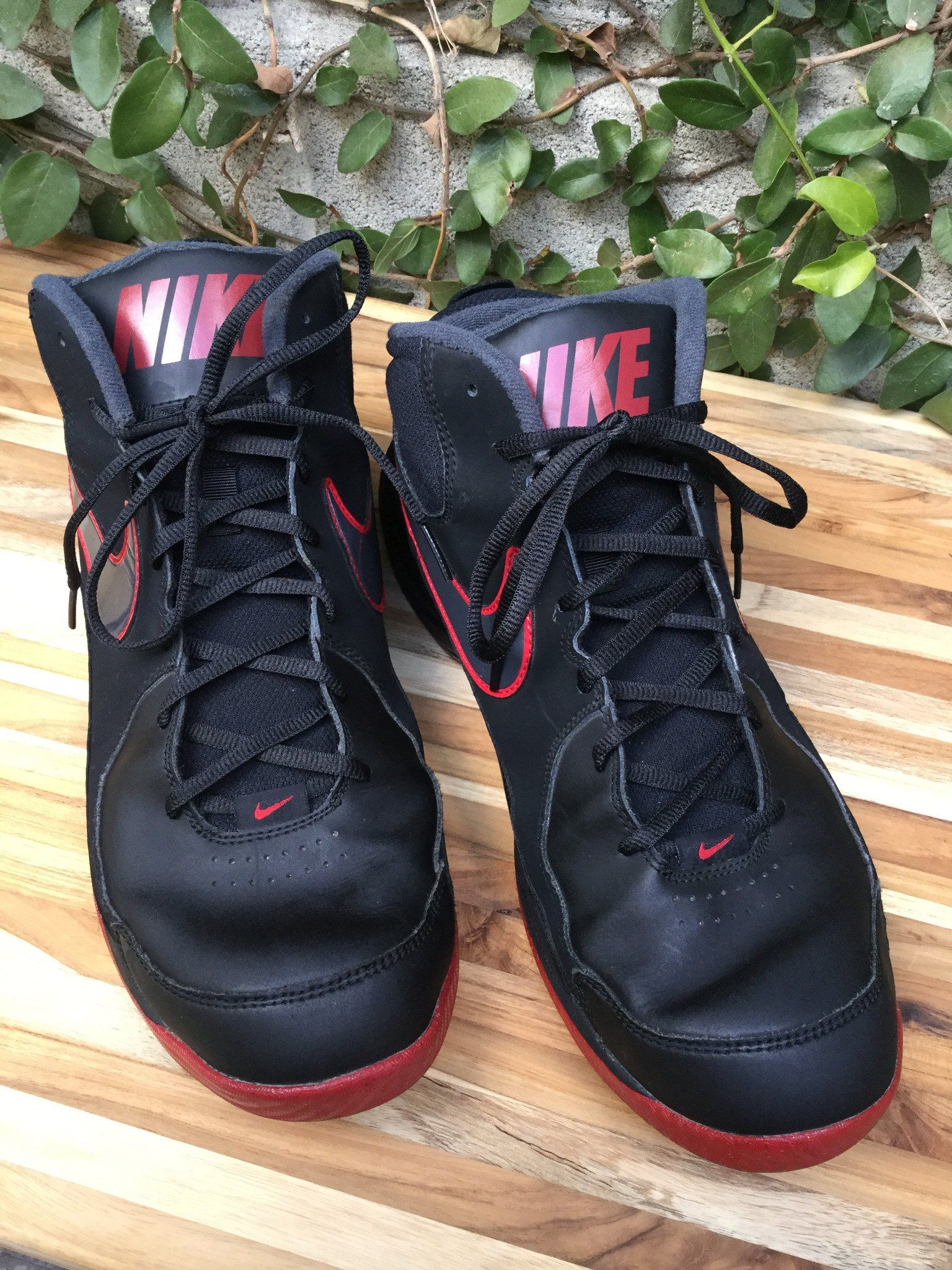 ed5c49217b6768 Nike Overplay VII High Top Basketball Shoe in Black   Red  thegoldenfind   fashion  style  mensfashion  fashionnews  menstyle