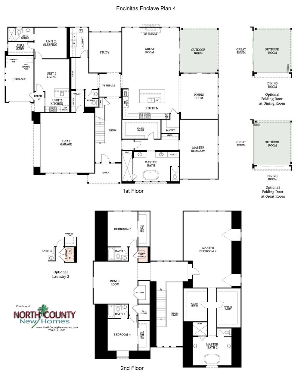 Encinitas Enclave New Homes North County New Homes Floor Plans New Homes House Floor Plans