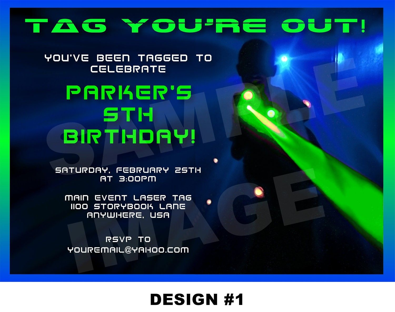 graphic regarding Laser Tag Birthday Invitations Free Printable known as Laser Tag Get together Invites Template No cost Nicks birthday