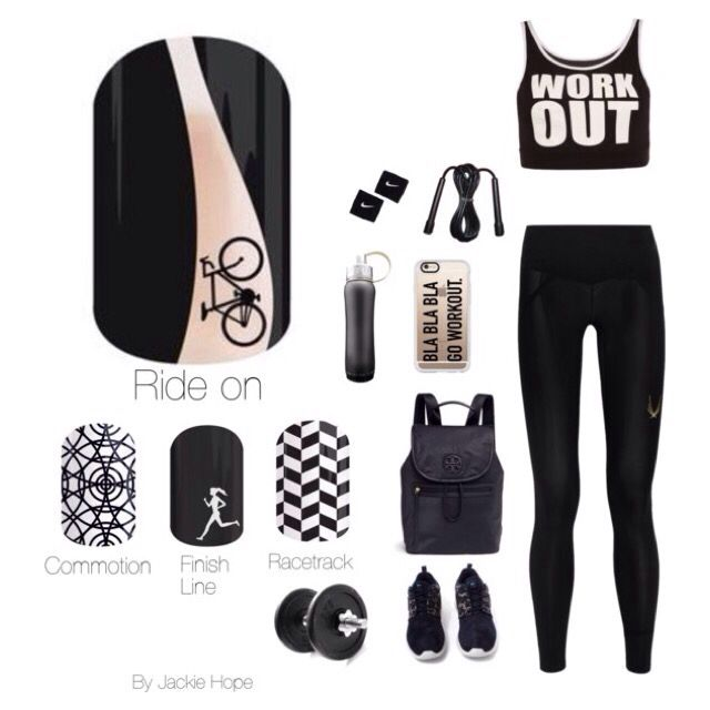 Compliment your sports outfits with Jamberry nail wraps.