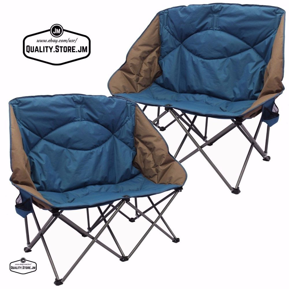 Double Camping Chairs Folding Rustic Pine Ladder Back Chair Camp Set Loveseat For Adult And Kids Outdoor Sofa Ozarktrail