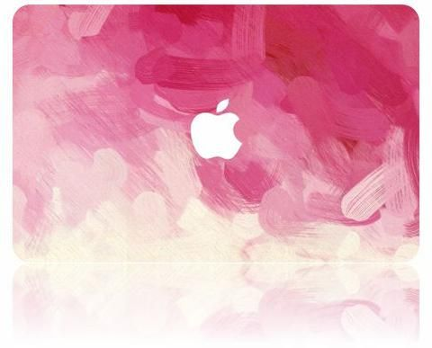 Macbook Case Oil Painting Collection Pink Paint