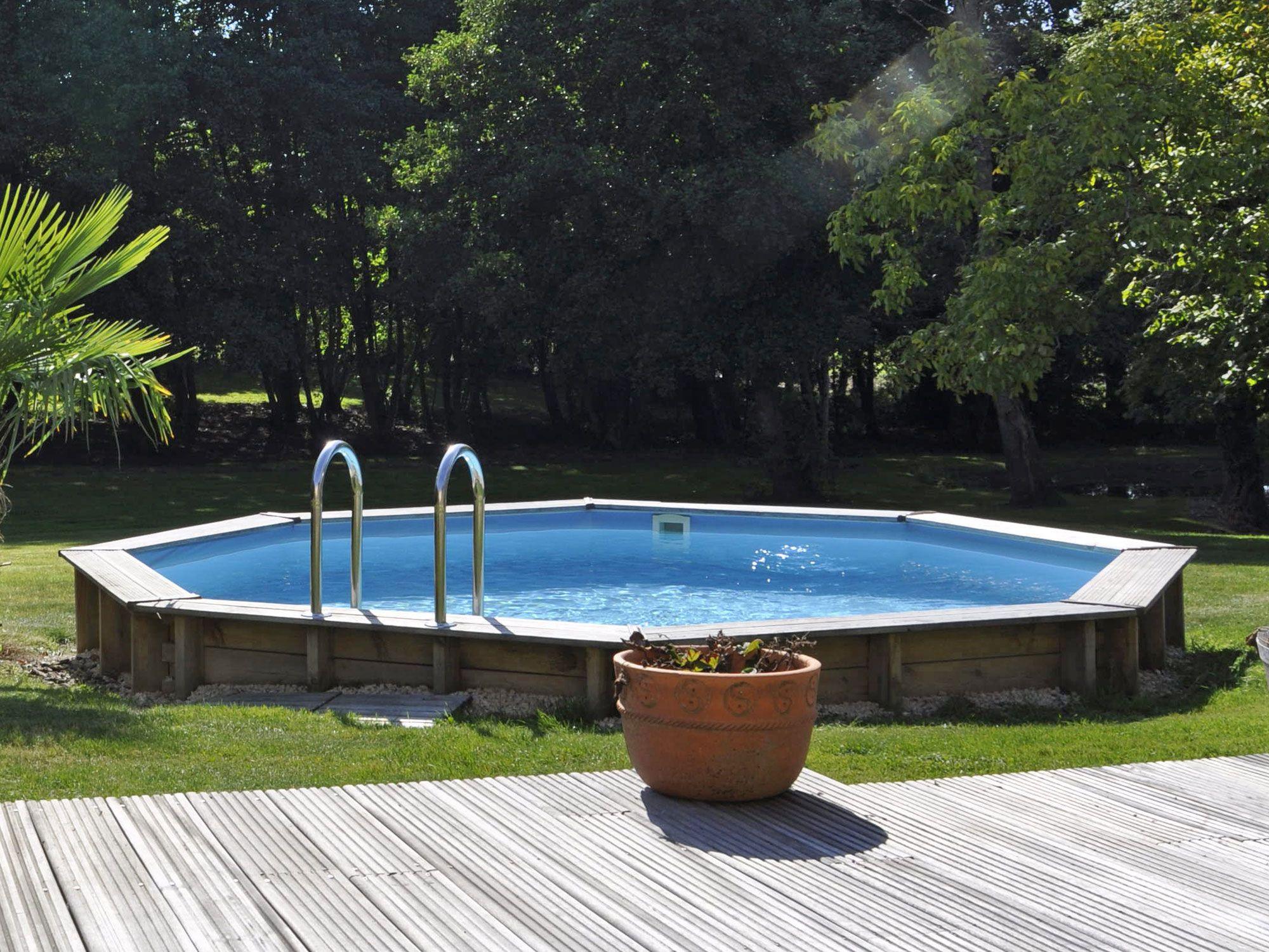 Piscine Hors Sol Bois Petite Dimension piscine bois alcira Ø 4,45 m x h. 1,33 m | piscine bois